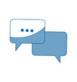 bubble speech dialog chat app web vector image