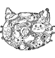 Cat face sketchy doodle vector image