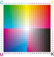 Cmyk color vector image