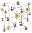 cryptocurrency bitcoin concept vector image