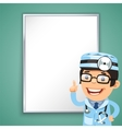 Doctor Points on the Board vector image