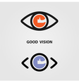 Eye Icon Good Eye Icon Art Eye Icon Web vector image