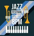 jazz festival music celebration october poster vector image