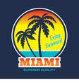 Miami - vintage badge vector image