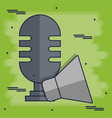 microphone and megaphone icon vector image