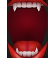 Party Invitation with vampire mouth vector image