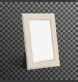 realistic woden picture or photo frame mock up vector image