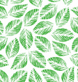 Seamless texture of leaves vector image