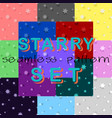 starry seamless pattern set vector image