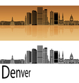 Denver skyline in orange vector image