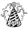 Happy New Year hat 2016 vector image vector image