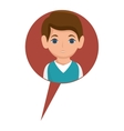 man avatar character with speech bubble vector image