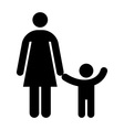 Mother and kid symbol vector image vector image