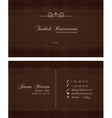 Decorative restaurant business card vector image