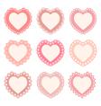set of heart shaped frames vector image