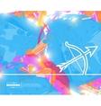 Creative cupid bow Art vector image