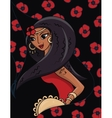 beautiful Gypsy dancer vector image