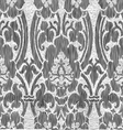 Black and white abstract striped floral pattern vector image