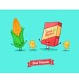 funny cartoon Funny cornflake and corn vector image