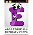 funny letter e cartoon vector image