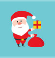 happy santa claus character holds the christmas vector image