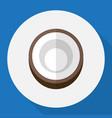 of dessert symbol on coconut vector image