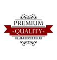 Quality label in retro style vector image