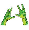 spooky hands vector image