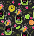 Juice seamless pattern background vector image vector image