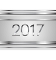 New Year tech silver stripes abstract background vector image