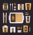 Burger Bar Corporate Identity vector image
