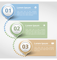 Design Template with Three Banners vector image vector image