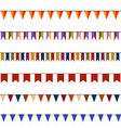 Set of Christmas festive flags on ropes vector image vector image