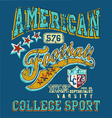 american football college sport crack vector image