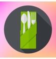 Cutlery Fork Knife Spoon flat vector image