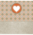 Retro valentines day card with heart EPS 8 vector image vector image