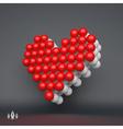 Love heart symbol Design element 3d vector image vector image
