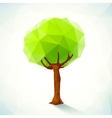 Abstract triangles tree vector image