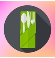 Cutlery Fork Knife Spoon flat vector image