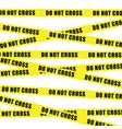 do not cross tape vector image