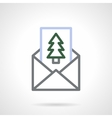 Envelope with greetings color line icon vector image