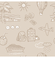 Seamless background Sketch traveling pattern vector image