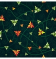 Seamless pattern with clover leaves Dark vector image
