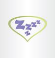sleep box letters zzz sleeping vector image