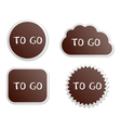 To go buttons vector image vector image