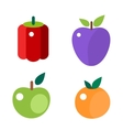 Fruits and vegetable food flat vector image