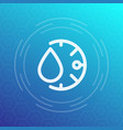 Humidity line icon sign vector image