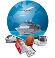 travel and journey transport vector image