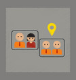 flat shading style icon gay marriage vector image