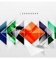 Squares and shadows - tech abstract background vector image